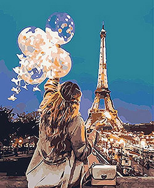 Картина по номерам Волшебный Париж
