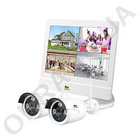 2 Мп комплект видеонаблюдения уличный LCD Wi-Fi Partizan IP-24 2xCAM + 1xNVR