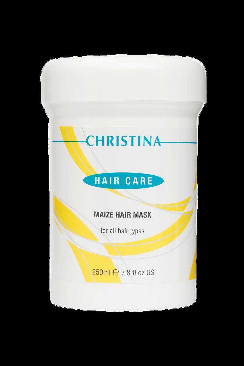 Кукурузная маска для всех типов волос Maize Hair Mask For All Hair Types, 250 мл