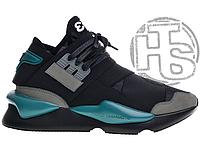 Мужские кроссовки Adidas Y-3 Qasa Kaiwa Chunky Black Teal