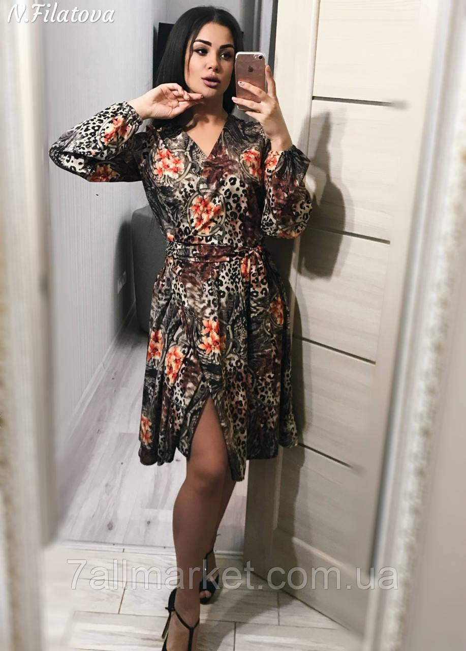 23cdcda7ea9 Платье женское с модным леопардовым принтом