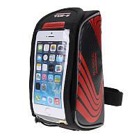 """Велосипедная сумка на раму для смартфона 6.4"""" дюйма B-Soul Red, Blue, Green,"""