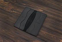 Портмоне (купюрник) из кожи ручной работы VOILE lw5-blk, фото 2