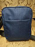 (Новый стиль)Барсетка adidas ткань катион матовый/Сумка спортивные мессенджер для через плечо Унисекс ОПТ, фото 4