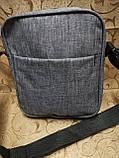 (Новый стиль)Барсетка fila ткань катион матовый/Сумка спортивные мессенджер для через плечо Унисекс ОПТ, фото 5