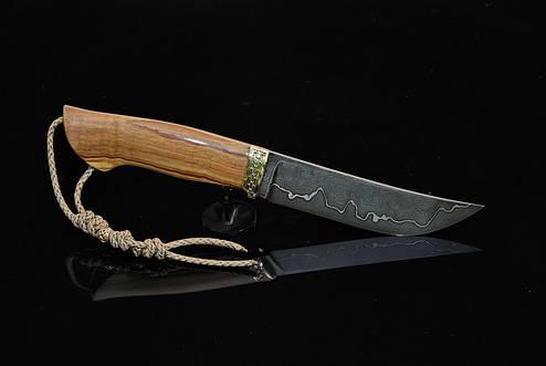 """Охотничий нож ручной работы """"Оливковый"""", дамасск, фото 2"""