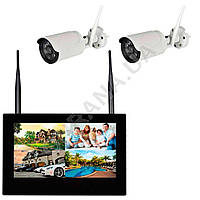 Комплект беспроводного видеонаблюдения KIT-FHD102, фото 1