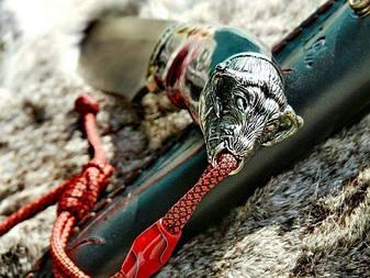 """Нож охотничий ручной работы """"Буйвол-2"""", дамасск, фото 2"""