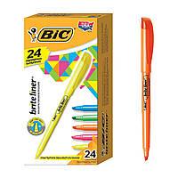 BIC Маркер текстовий жовтий зелений синій рожевий оранжевий.Текстовидільний.Brite Liner Highlighter