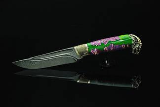 """Охотничий нож ручного изготовления """"Мамба"""", дамасск, фото 3"""