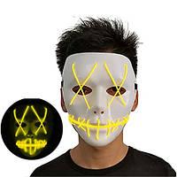 Неоновая Маска для вечеринок с подсветкой Led Mask 1 Yellow - 149749