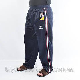 Брюки спортивные мужские эластиковые с полосами Черный цвет