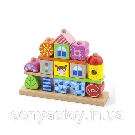 """Конструктор """"Город"""", кубики для строительства, 1.5+, фото 1"""