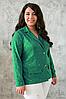 Яркий жакет из гипюра Дженни зеленый (56-60)