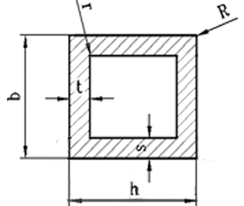Труба квадратная алюминий 20х20х1 без покрытия
