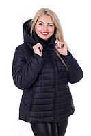 Стильная куртка большого размера Келли черный (56-66), фото 1