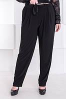 Стильные брюки женские батал Трейси черные (60-70), фото 1