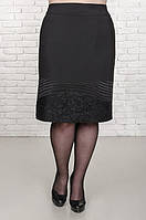 Юбка женская размер плюс Лора черный (50-58), фото 1