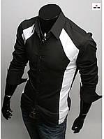 Модна сорочка чоловіча з довгим рукавом