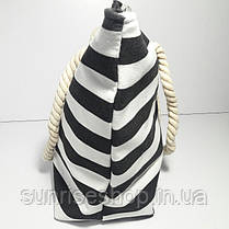 Пляжная сумка чёрная полоса опт и розница, фото 2