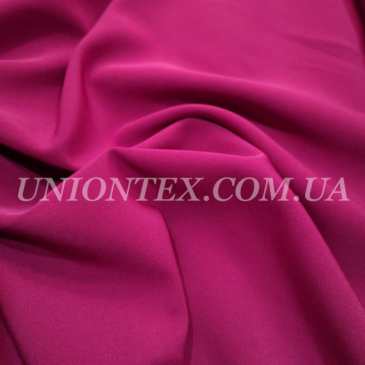 Ткань креп костюмка Барби фуксия