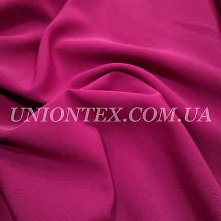 Ткань креп костюмка Барби фуксия, фото 2
