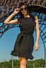 Молодежное женское платье цвет черный (S-L)