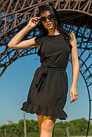 Молодежное женское платье цвет черный (S-L), фото 1
