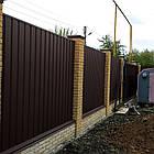 Колпаки и парапеты на забор матовый, фото 4