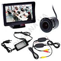 Беспроводной комплект видеонаблюдения (врезная камера+приемопередатчик+монитор), фото 1
