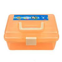 Контейнер для хранения инструментов YRE со съемным отделением, маленький оранжевый