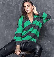 Стильный молодежный свитер Миа-2 зеленый(42-48)