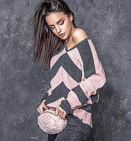 Стильный молодежный свитер Миа-2 розовый(42-48)