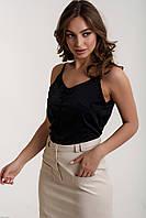 Молодежная майка из шелка Лори черный (44-48)