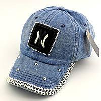 Детская бейсболка кепка с 52 по 56 размер детские бейсболки кепки летние для девочки джинс стразы