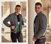 Куртка мужская бомбер / плащевка, холофайбер 100 / Украина 47-1187, фото 1