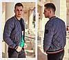 Куртка мужская бомбер / плащевка, холофайбер 100 / Украина 47-1188