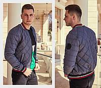 Куртка мужская бомбер / плащевка, холофайбер 100 / Украина 47-1188, фото 1