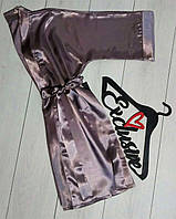 Соблазнительный атласный халат. Одежда для дома женская