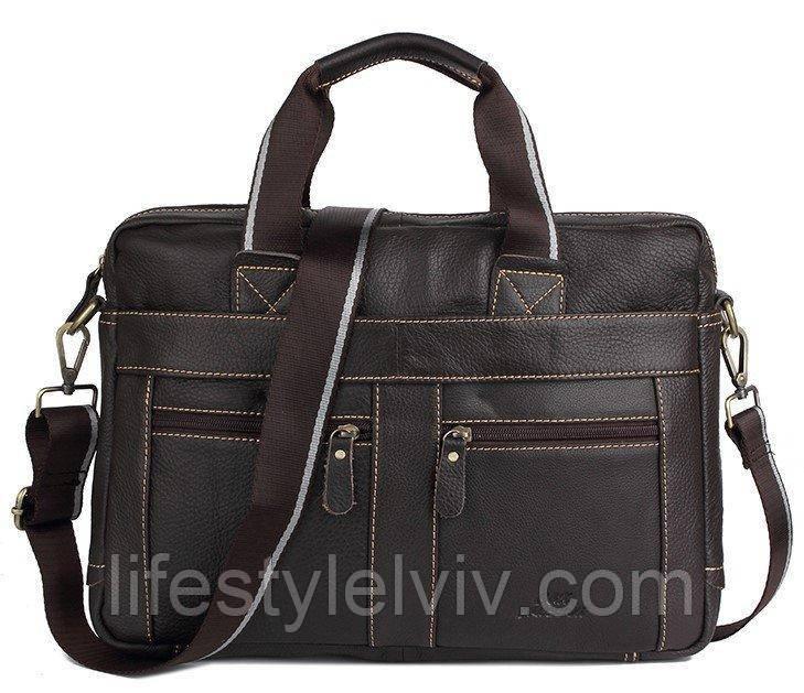 226eee884274 Мужская кожаная сумка Ox Bag Classic (коричневая, натуральная кожа) -  Интернет магазин LifeStyle