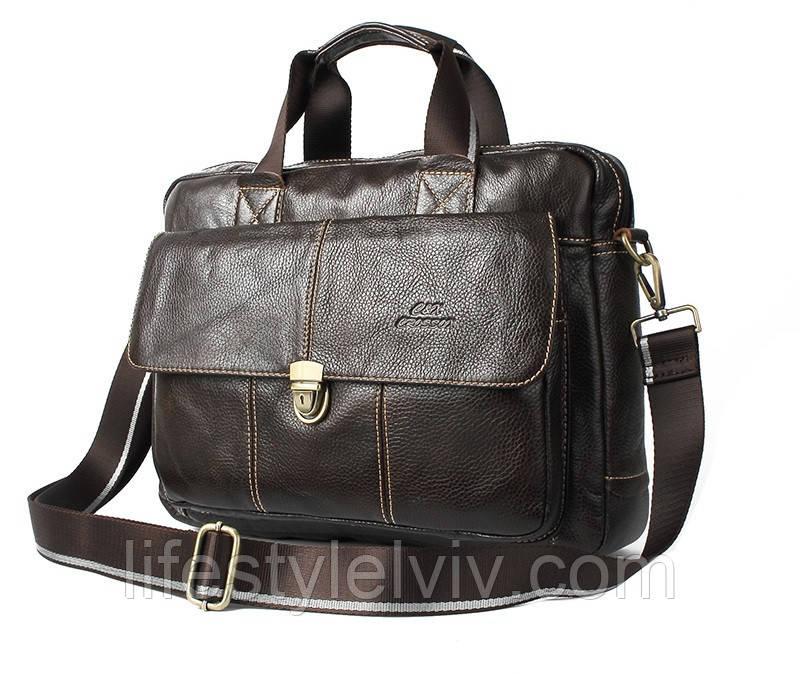 40365bb750a9 Мужская кожаная сумка Ox Bag Briefcase (коричневая, натуральная кожа) -  Интернет магазин LifeStyle