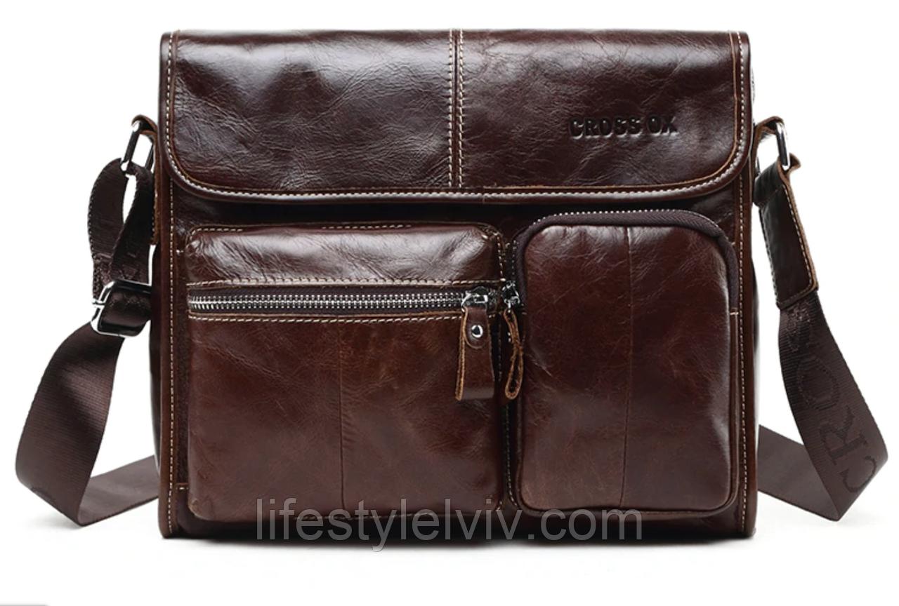 65edba7287d Мужская кожаная сумка Ox Bag Vintage (коричневая, натуральная кожа) -  Интернет магазин LifeStyle