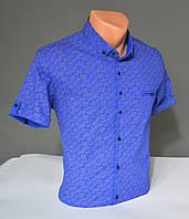 Мужская рубашка с коротким рукавом G-port синяя Турция 5026