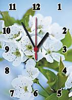 """Часы настенные стеклянные """"Веточка Вишни"""", фото 1"""
