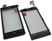 Тачскрин, сенсор Nokia 520, 525 черный в рамке High Copy