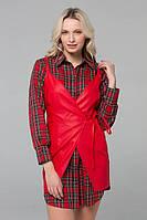 8335b98074f Комплект рубашка и кожаный сарафан POLA красный (S