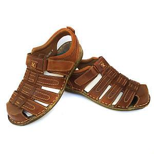 Кожаные сандалии Yalasou на липучке