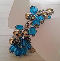 Подарунок для жінок -браслет з акрилових намистин, фото 1