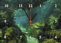 """Часы настенные стеклянные """"Подводный мир"""""""