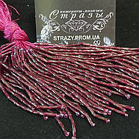 Стеклярус витой Ruby 10 нитей 8см Chrisanne Glover Англия